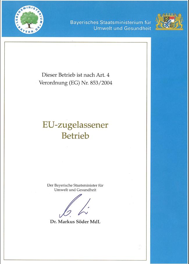 EU Zertifikat